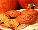 Pumpkin Muffins with Molasses-Ginger Glaze